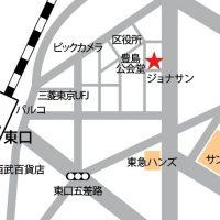 池袋のレンタルスタジオ『ルピナス』地図アクセス所在地マップ